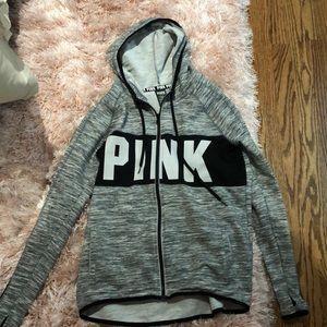 Pink Grey Zip-Up